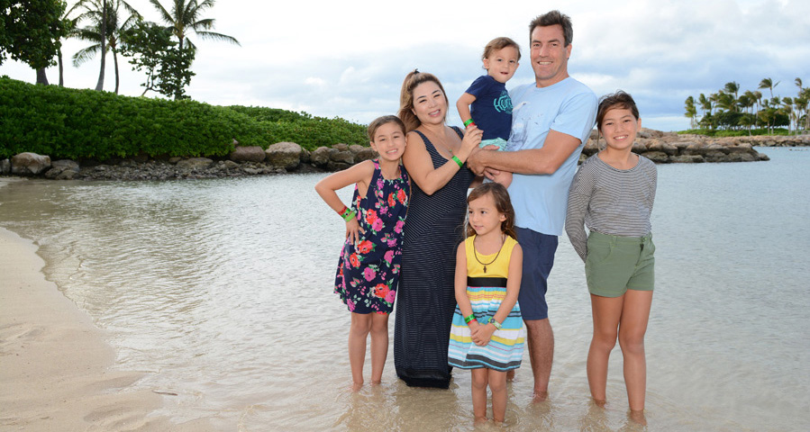 Michael Shower (RA) and family in Honolulu, Hawaii