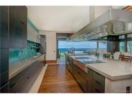 Clean lines define this contemporary kitchen.