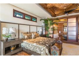 The Master Suite, open to the ocean and yet private and secure with well defined separation of space. The Master Bedroom transitions into a bath, shower and powder room with perfect attention to detail.
