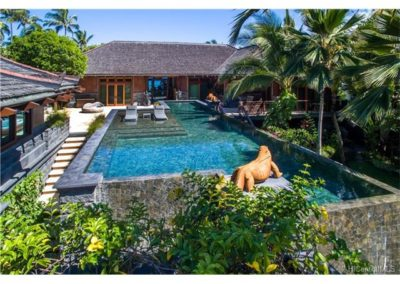 Guest House and Main home surround this beautiful infinity pool.