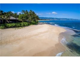 White sandy beaches for miles, Mt. Kaala and Oahu's most treasured location.